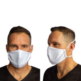 Unbranded Double Layer Face Mask on a person