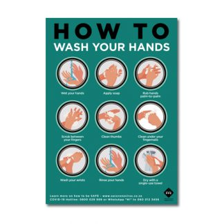 FREE to download How To Wash Your Hands Poster