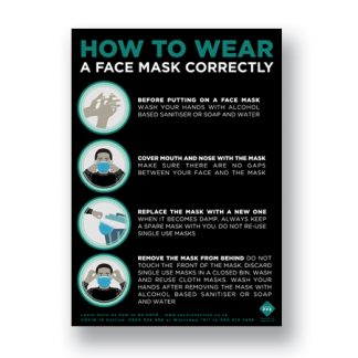 FREE to download How To Wear a Mask Poster