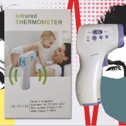 Packaging and Product shot of the Infrared No-Touch Thermometer