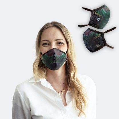 Corporate office wear with the Water Repellent SA Flag Face Mask