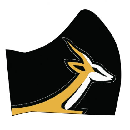 Side View Springbok on these official masks