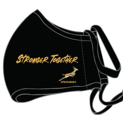 Stronger Together Springbok Slogan on the Springbok Masks